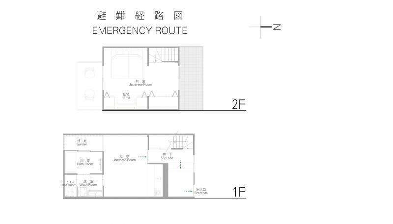 寝室は2階となります
