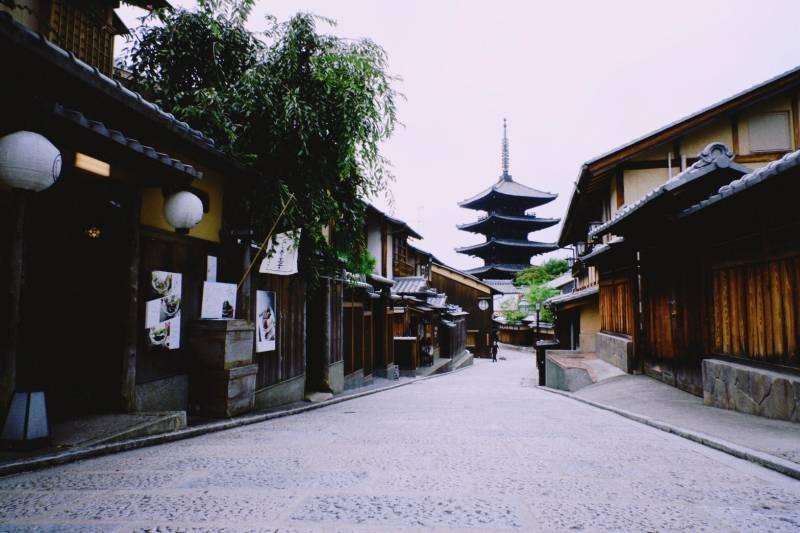 京都の見慣れない風景…
